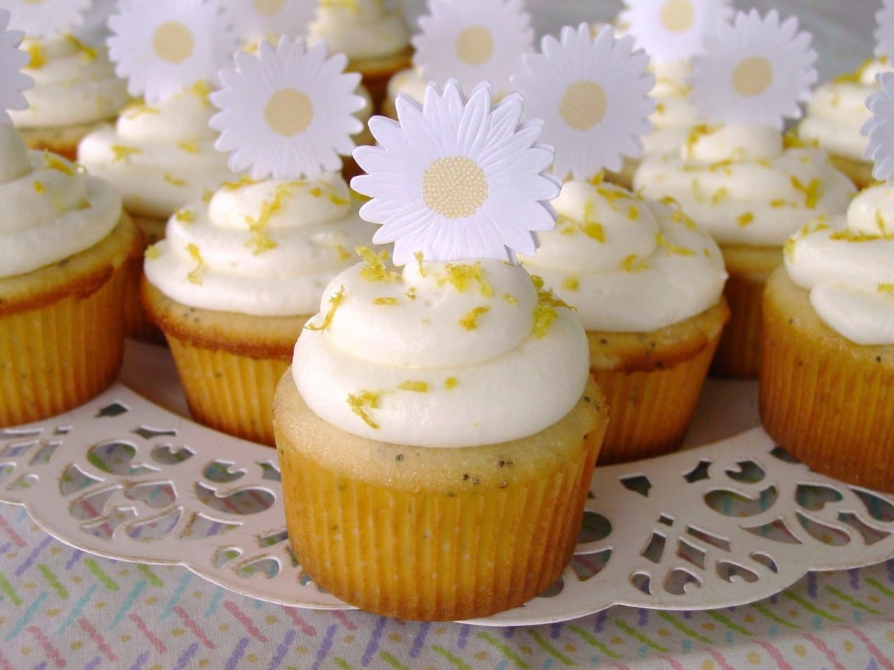 One Bowl Pine Nut Cupcakes With Raspberry Cream Cheese Frosting Recipe ...