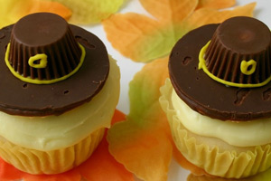 Thanksgiving Pilgrim Cupcakes